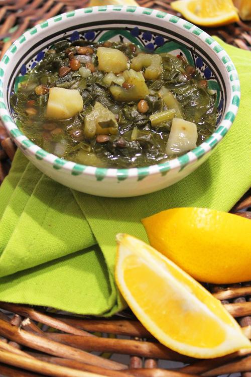adas bhamoud (chard and lentil soup)