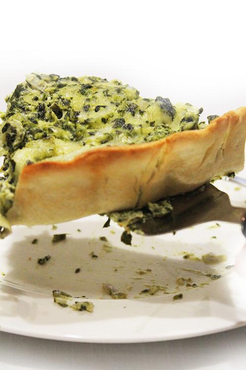 artichoke spinach quiche