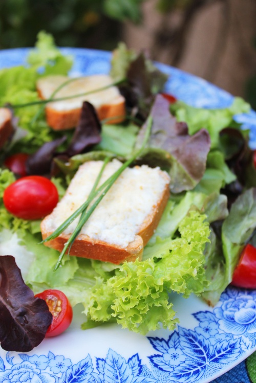 salad au chevre chaud