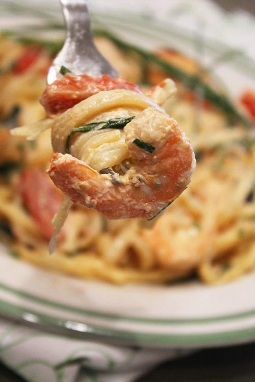 shrimp basil linguine | marmite et ponpon