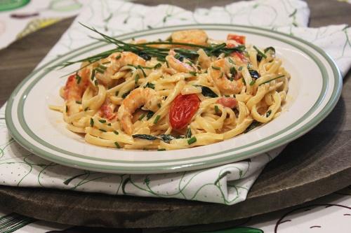shrimp basil linguine |marmite et ponpon