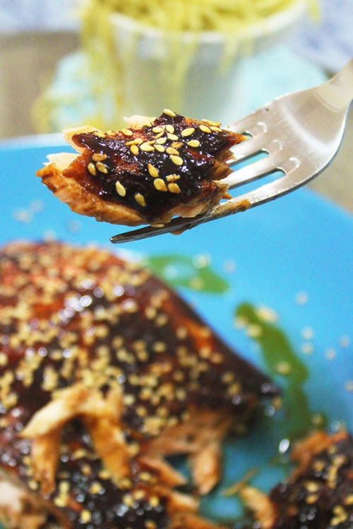 sweet balsamic glazed salmon