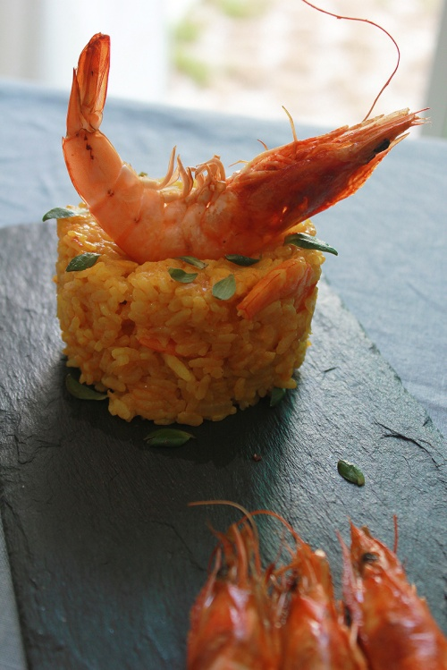 spanish rice and shrimps|marmite et ponpon
