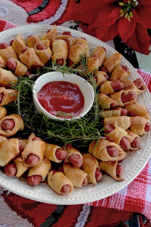 Sausage Christmas wreath| marmite et ponpon